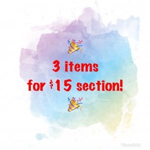 Other - 3 items for $15!